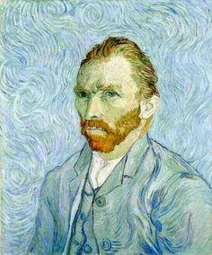 Vincent van Gogh: Self-Portrait. Oil on canvas. Saint-Remy: September, 1889. Paris: Musee d'Orsay.