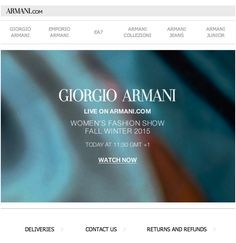 Giorgio Armani: watch the women's Fall Winter 2015 fashion show live