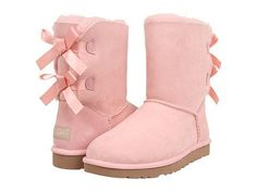 Romantic look 2014/2015. Pink Uggs with lace bows