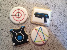 Laser Tag Cookies by SweetTreatSisters on Etsy https://www.etsy.com/listing/216871365/laser-tag-cookies