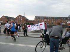 LOL run bitches with beer ( London Marathon )