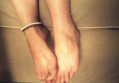 Boho Anklet, White beads and Bronze Chain Anklet, Gypsy Anklet. Free Shipping! by Bohemicin on Etsy