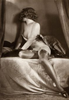 Barleys Vintage Photograph Gallery Archive | Vintage Photo Shop: Vintage Photograph Risque Girl With Stockings
