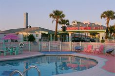 The adorably kitschy Magic Beach Motel just outside St. Augustine, Florida.: