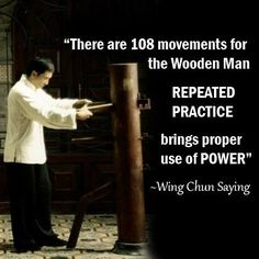 Wing Chun Muk Yan Jong Training. #Martial arts #Fighter #Wing Chun