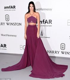Vision in mauve: Kendall's skirt had quite the train on it, which no doubt would have been...