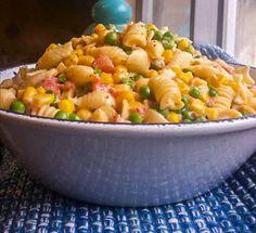 Creamy Corn, Peas and Pasta   Flavor Mosaic   #pasta