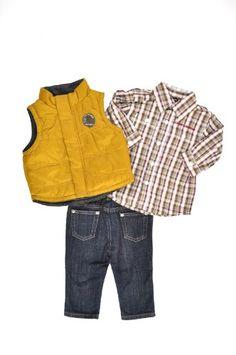 Calvin Klein Newborn Boys Wheat Vest 3Pc Pant « Clothing Impulse  I want this!
