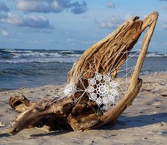 Driftwood Doily Art Installation by nespoon