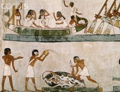 Egyptian Mural Paintings from the Tomb of Menna