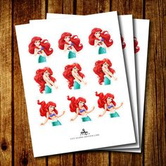 PRINTABLE Little Mermaid Ariel Cupcake Toppers INSTANT