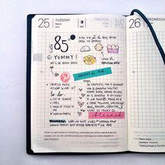 Procura-se agenda 2015 com página igual a essa. (quadriculada e com pensamentos embaixo)