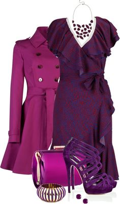 """""""Wrap Dress"""" by averbeek on Polyvore"""