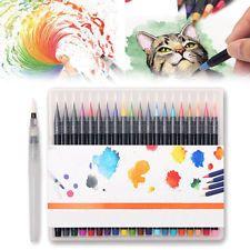 20 Colors Art Oil Watercolor Drawing Painting Brush Sketch Manga Pen Set New AU