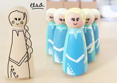 how to paint an elsa peg doll from disneys frozen!