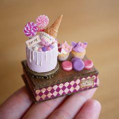 2018.05 Miniature Birthday Cake Dollhouse ♡ ♡ By Noecoro