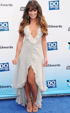 Lea Michele wore a ruffled high-low dress to the Do Something Awards!