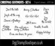 * Christmas sentiments - Set 6