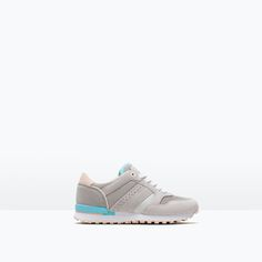 Image 1 of LEATHER SNEAKERS from Zara