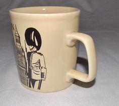 London Made in England UK Coffee Mug Tea Cup Global Icon Big Ben Ceramic Black | eBay