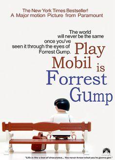 Pôsteres filmes recriados Playmobil