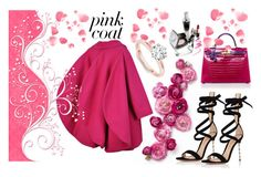 Coat Pink by donnyprabowo on Polyvore featuring polyvore, Pierre Cardin, Gianvito Rossi, Hermès, fashion, style and clothing