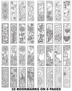 Adult Coloring Book Markers Best Of Coloring Bookmarks 1 8 Printable Adult Coloring Pages 32 Printable Adult Coloring Pages, Coloring Pages To Print, Coloring Book Pages, Coloring Sheets, Free Printable Bookmarks, Free Printables, Creative Bookmarks, Book Markers, Zentangle Patterns
