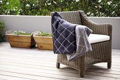 Keep toasty with the COAST Cardrona Merino Wool Throw Outdoor Furniture, Outdoor Decor, Merino Wool, Ottoman, Coast, Luxury, Stuff To Buy, Design, Home Decor