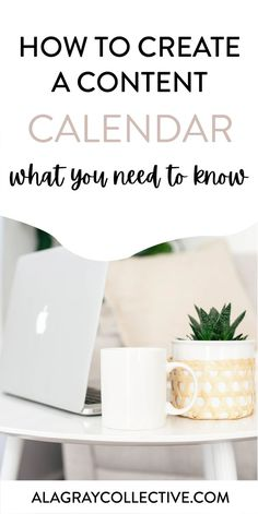 How to Create a Content Calendar - A La Gray Collective Make Money Blogging, Way To Make Money, Facebook Marketing, Media Marketing, Business Marketing, Marketing Ideas, Digital Marketing, Content Marketing Strategy, Business Tips
