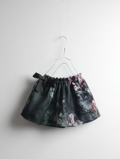 Mini silk skirt | floral