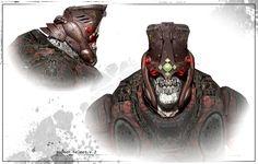 Boomer by James Hawkins on ArtStation. Fantasy Demon, Fantasy Monster, Monster Art, Metal Gear, James Hawkins, Gears Of War 2, Character Art, Character Design, For The Horde