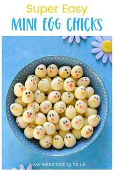 Super cute and easy Mini Egg Chicks - perfect for Easter gifts treats and Easter baking Mini Egg Recipes, Easter Recipes, Easter Food, Easter Treats, Food Art For Kids, Easter 2021, Mini Eggs, Tray Bakes, Food Print