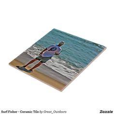 Surf Fisher - Ceramic Tile