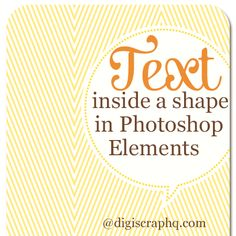 Tutorial make your own invites with photoshop elements free text inside a shape in photoshop elements stopboris Images