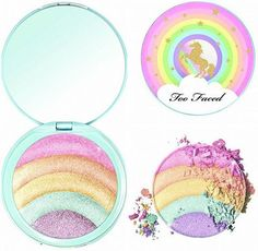 Vintage Makeup Too Faced cosmetics highlighter - If you still secretly dream of unicorns your eyes are about to become a heart emoji when you see all the products. Cute Makeup, Simple Makeup, Beauty Makeup, Huda Beauty, Makeup Trends, Beauty Trends, Makeup Ideas, Maquillaje Too Faced, Festival Make Up