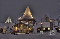 Santa's house - Rovaniemi Finland. You can send a letter to Santa. Just write Santa Claus, Finland and you will get your answer!!