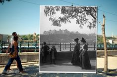 Window to the Past, Then & Now Composite Photos of Budapest by Kerényi Zoltán
