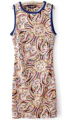 Floral print hit color vest dress