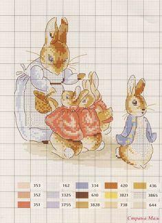 Bordados de animales del bosque en punto de cruz Cross Stitch Fairy, Just Cross Stitch, Cross Stitch Bookmarks, Cross Stitch Animals, Baby Cross Stitch Patterns, Hand Embroidery Patterns, Cross Stitch Charts, Cross Stitch Designs, Beatrix Potter