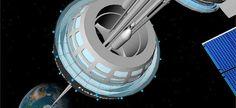 «Space elevator GEO Station» par flying singer via Flickr licence cc by