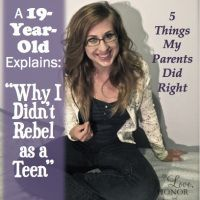 Why Do Teenagers Rebel? Thoughts from a 19-Year-Old Who Didn't I was so rebellious, and my biggest fear is that my boys will make the same mistakes I did.