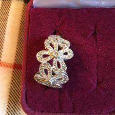 Lia Sophia..CZ flower ring FUN CZ flower ring!!! Lia Sophia Jewelry Rings