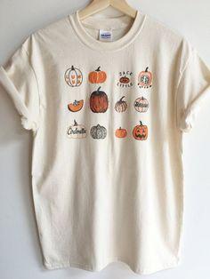 Pumpkin T-Shirt Halloween Shirt Screen print shirt