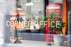 Swedish Match Corner Office by WorkShop The Retail Agency, Stockholm – Sweden Visual Merchandising, Traditional Office, Creative Hub, Corner Office, Fourth Wall, Branding, Office Environment, Meeting Place, Cafe Shop