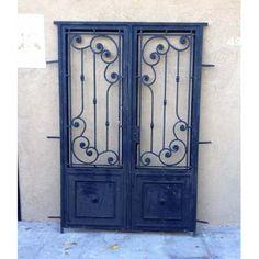 Elcarreton Puerta 2 Hojas Estilo Antiguo En Hierro 140x210cm