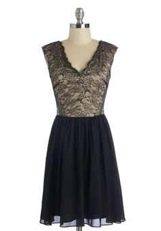 Jazz What You Needed Dress. Clad in this sultry black dress, you make your way to jazz night at your favorite cocktail bar. #modcloth