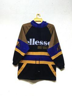 cf062202684 Vintage 90s Ellesse hooded pullover crewneck sweatshirt jumper casual  tennis jacket