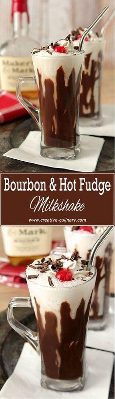 Bourbon Hot Fudge Milkshake...a very adult beverage when you want to feel like a kid again!