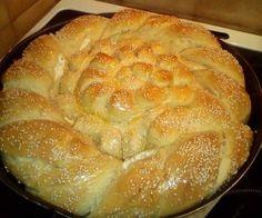 Τυροψωμο ,τυροκουλουρα ,όπως θέλετε πείτε το ,έγινε αφρός ! Η συνταγή δικής μου έμπνευσης !  Σε ενα λεκανακι ρίχνουμε 1 φλυτζάνι χλιαρό… Pizza Pastry, Savory Pastry, Yeast Rolls, Greek Cooking, Sticky Buns, Cooking Recipes, Healthy Recipes, How To Make Bread, Greek Recipes