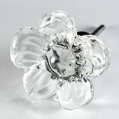 Items similar to 7 - Cosmo Glass Cabinet Knobs, Kitchen Drawer Pulls & Handles - Clear Flame Polished Vintage Glass Knobs with Antique Brass Base on Etsy Dresser Drawer Handles, Kitchen Drawer Pulls, Kitchen Cabinet Knobs, Kitchen Drawers, Knobs And Handles, Kitchen Handles, Glass Furniture, Furniture Knobs, Kitchen Cabinets And Cupboards